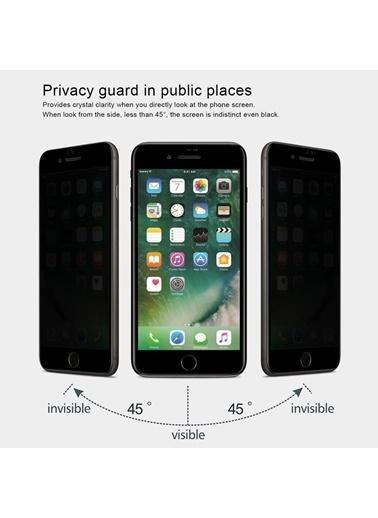 Microsonic Apple iPhone 7 Plus Privacy 5D Gizlilik Filtreli Cam Ekran Koruyucu Siyah Siyah
